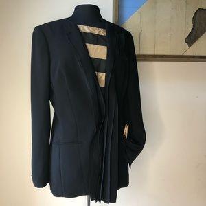 Rachel Roy black ruffled blazer size 12